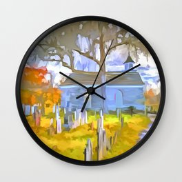 Pop Art Church Wall Clock