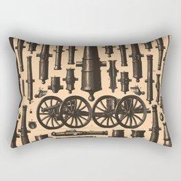 Vintage Cannon & Artillery Diagrams (1907) Rectangular Pillow