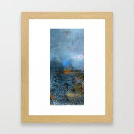 blue cloud Framed Art Print