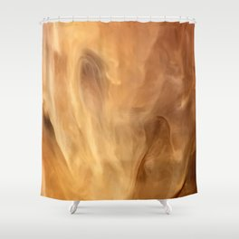 French Vanilla Expresso Marble Pattern With Sweet Cream Shower Curtain