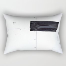 Black Tape Rectangular Pillow