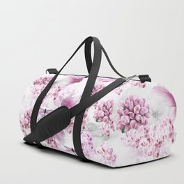 ORCHIDS ROSES MAGNOLIAS and Dragonflies Duffle Bag