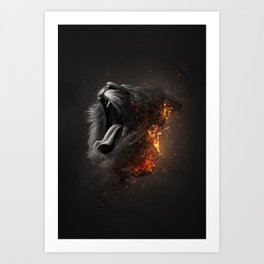 XTINCT x Lion Art Print