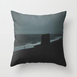 REYNISFJARA BLACK SAND BEACH / ICELAND Throw Pillow