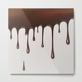 Chocolate Rain Metal Print
