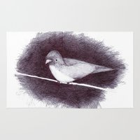 birdy Area & Throw Rugs featuring Birdy by CarlyK473
