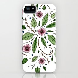 Hanging Among the Flowers & Leaves iPhone Case