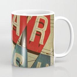 Retro Car Wash Sign Coffee Mug