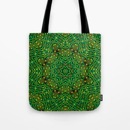 Orange Yellow and Green Kaldeidoscope 4 Tote Bag