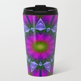 Abstract metallic flower Metal Travel Mug
