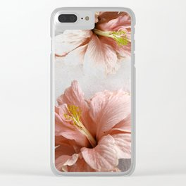 Blossom, Pink Flowers Clear iPhone Case