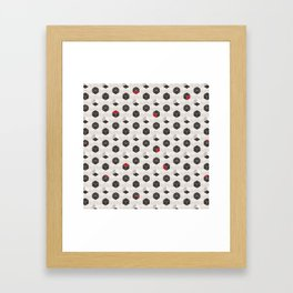 Beige Cubes Framed Art Print