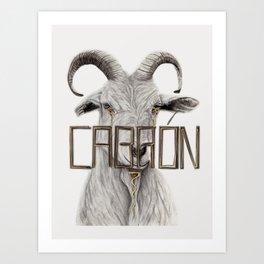 Bullied Goat Art Print