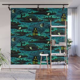 Halloween Night - Fox Fire Green Wall Mural