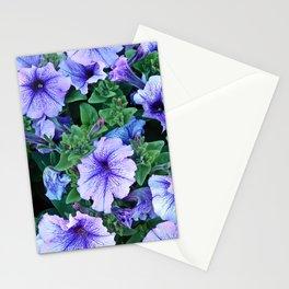 Purple Blue Petunias Stationery Cards