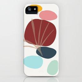 Moments - colorful stones leaf imprint iPhone Case