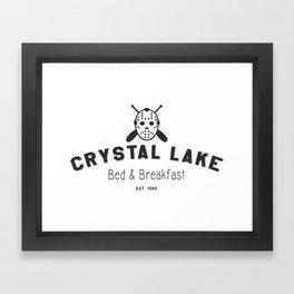 Crystal Lake Bed and Breakfast, Former Camp Crystal, Est.1980, Design for Wall Art, Posters, Tshirts, Men, Women, Kids Framed Art Print
