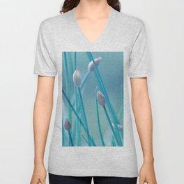 Allium turquoise 95 Unisex V-Neck