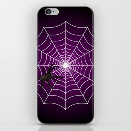Zombie Purple Spider Web iPhone Skin