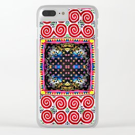 Endless snail Hmong art Clear iPhone Case