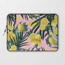 Summer Lemon Twist Jungle #6 #tropical #decor #art #society6 Laptop Sleeve
