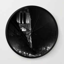 A View Looking Down the Rue D'Arcole at Notre Dame Cathedral, Paris, France Wall Clock