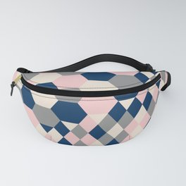 Honeycomb Blush and Grey Fanny Pack