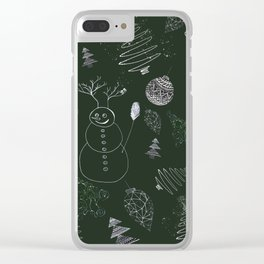 christmassy Clear iPhone Case