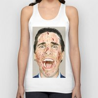 american psycho Tank Tops featuring American Psycho by JackyAttacky