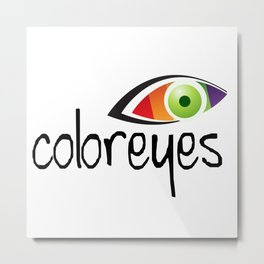 color eyes Metal Print