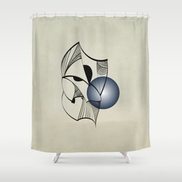 Abstract L1 Shower Curtain