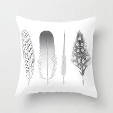 Feathers Trio Throw Pillow