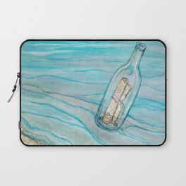 Message In A Bottle * Daydreaming Along the Shore Laptop Sleeve