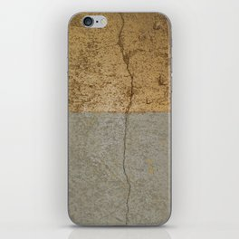 Concrete and gold iPhone Skin
