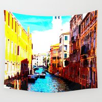venice Wall Tapestries featuring VENICE by Michelito