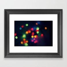 Lights of the Season Framed Art Print