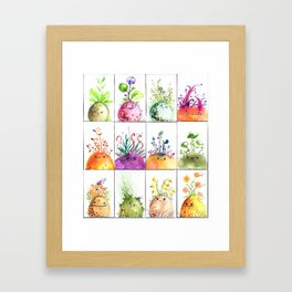 Sprout Heads Framed Art Print