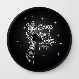 Space Kinda Sucks Wall Clock