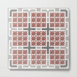 Graph 4 on Grey Metal Print