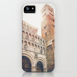 lucques Lucca cathedral san martino duomo Italy tuscany iPhone Case