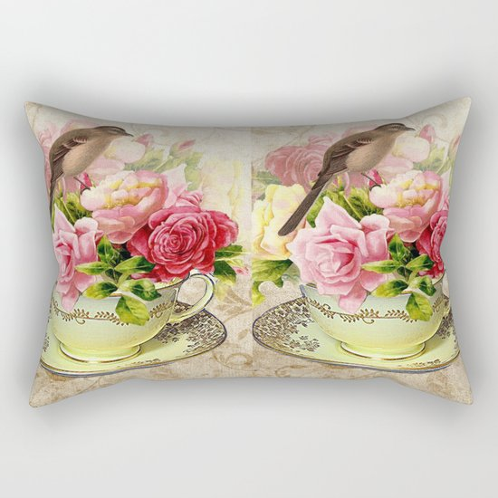 Tea flowers #3 Rectangular Pillow