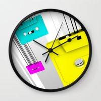 cassette Wall Clocks featuring Cassette by Delaney Digital