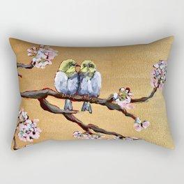 Cherry Blossom Chicks Rectangular Pillow