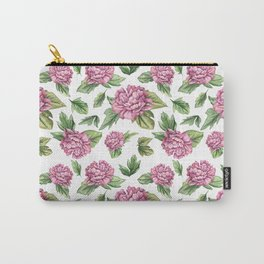 Pink coloured peony Carry-All Pouch
