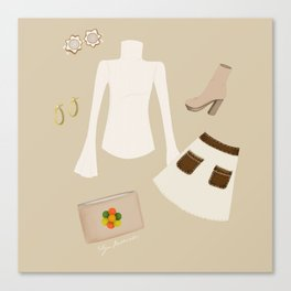Retro Outfit Canvas Print