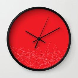 Poppy sticks Wall Clock