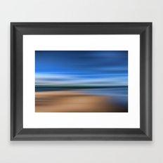 Beach Blur Painted Effect Framed Art Print