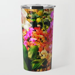 Orchids in the Market Travel Mug