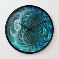 fractal Wall Clocks featuring Fractal by nicky2342