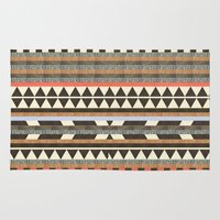ryan gosling Area & Throw Rugs featuring DG Aztec No.1 by Dawn Gardner